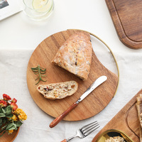 Solid Wood, Lacquerless Fruit, Cutting Board, Wooden Vegetable Board, Kitchen Round Board Cutting Board