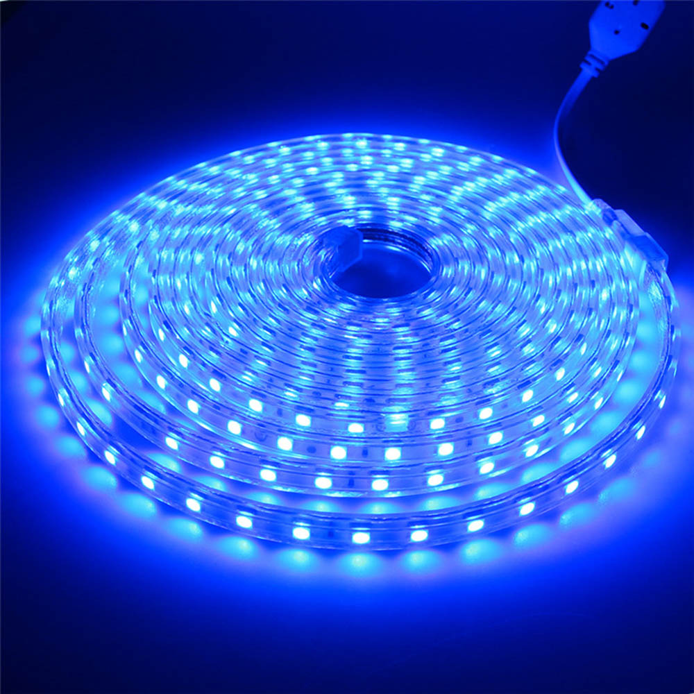 5050 15M LED Strip Lights AC220V Flexible Tape Lamp Ribbon Waterproof tira led String EU Power Plug Holiday Christmas Decoration