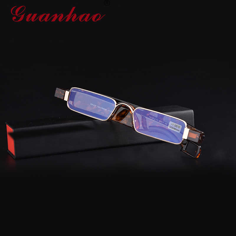 a43c574a5ce Guanhao Aniti Bue Light Ray Folding Reading Glasses Men Women Rotating  Diopter Optical Computer Glasses Spectacles