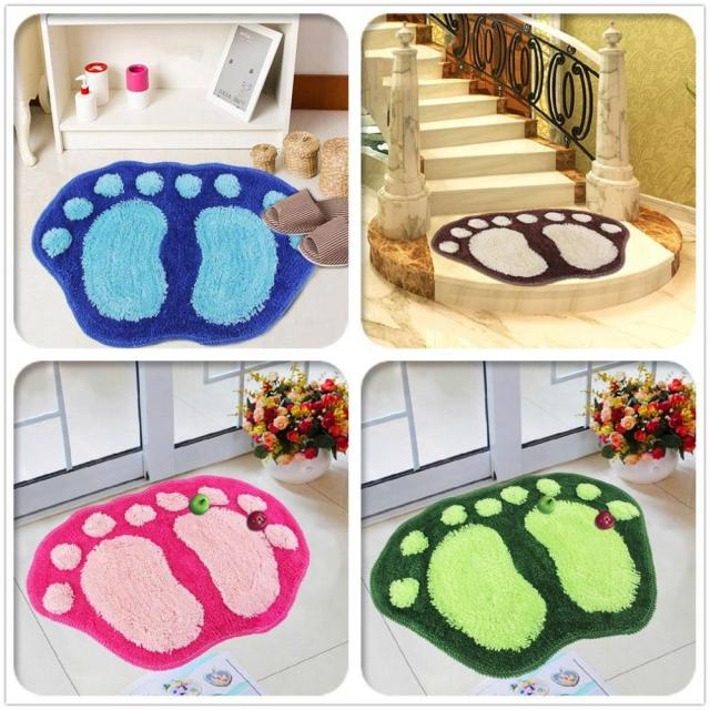 Cute Big Feet Tappeto Shaggy Assorbente Anti-slip Mat Camera Da Letto Bagno Floo