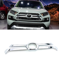 ABS Chrome Front Center Grille Grill Cover Trim Exterior Accessories Car Styling Parts For Toyota Rav4 Rav 4 Adventure 2019 2020