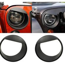 Angry Birds Eye форма фары крышка планки ободок ABS черный красный подходит для Jeep Wrangler jk 07 up