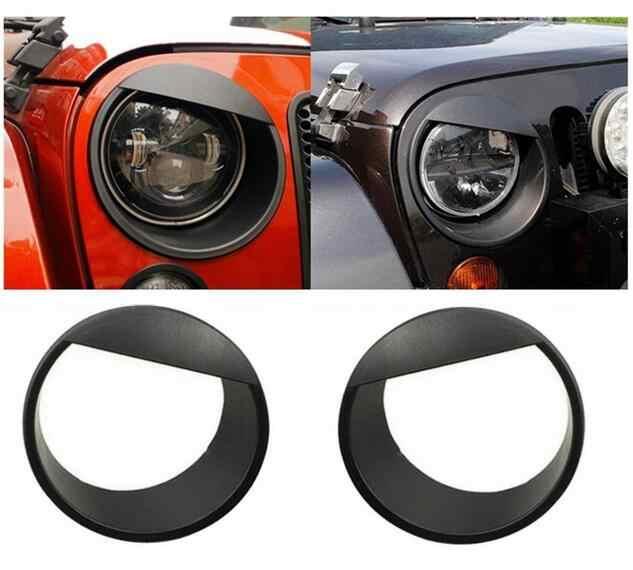 ¡Envío gratis! Cubierta de faros Angry Birds en forma de ojo, embellecedores de ABS negro y rojo para Jeep Wrangler jk 07 up