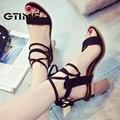 Gtime mujeres sandalias de tacones de moda de verano bombas sexy gladiador sandalias verano tacones altos comfort tacones cuadrados zapatos de mujer # zws106