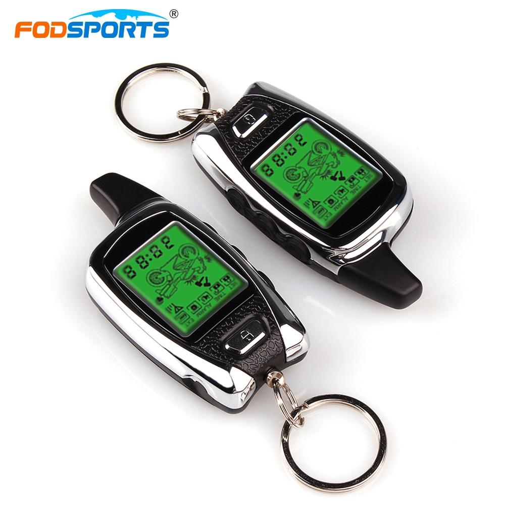Fodsports Motorcycle Theft Protection Alarm System 2 Way 5000m Range Microwave Sensor Detecting Anti-hijacking Remote Engine