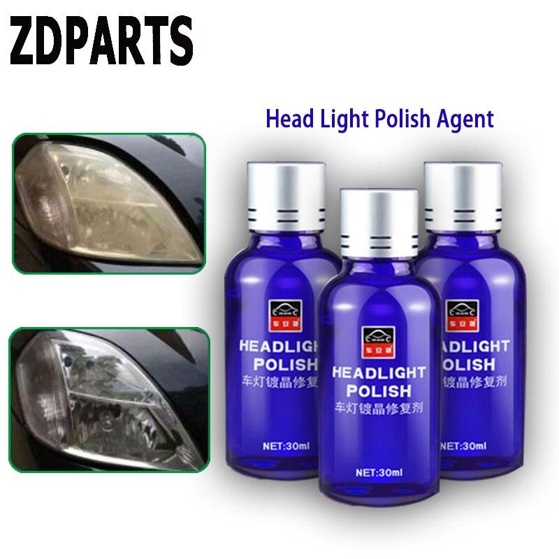 ZDPARTS 1 set Phare De Voiture Propre de Phare Polonais Agent De Réparation Pour Hyundai i30 ix35 ix25 Solaris Tucson 2017 Mazda 3 6 cx-5