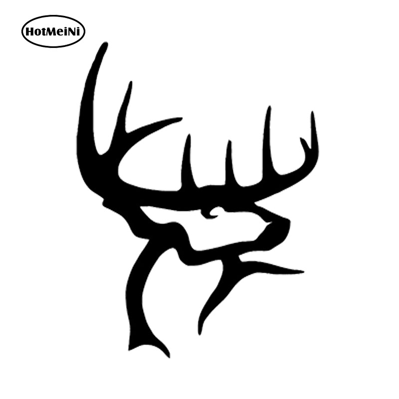 HotMeiNi 15*10cm Buck Commander Decal Stickers Gun Bow Hunting Deer Truck Window Car Laptop Car Sticker Black/Sliver