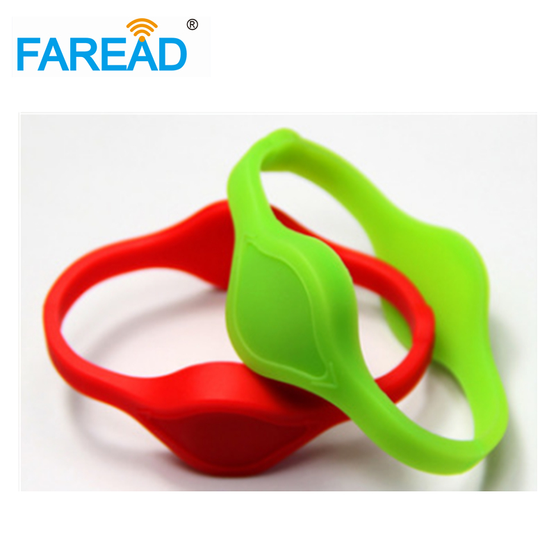 X100pcs Free Shipping 13.56MHz Ntag216 NFC RFID Wristband  ForSauna Bath Center, Supermarket ,amusement Park