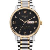 HOLUNS Fashion Casual Quartz Watch Men Classic Brand Luxury Wrist FULL Stainless Steel Relogio Masculino Watch