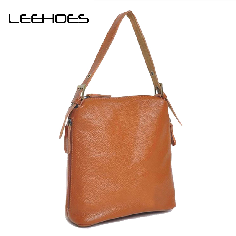 2018 Hot Crossbody Bags Real Cow Leather for Women Daily Casual Large Messenger Bag for Girls Flap Genuine Leather Shoulder Bags 2018 new casual women handbags genuine leather tasteful cow leather bag lady shoulder crossbody messenger bags stewardess flap