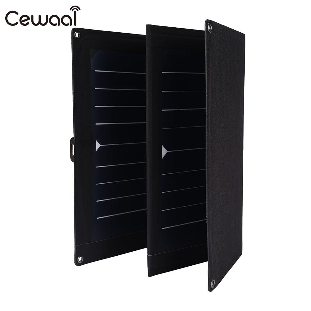 Cewaal Folding Solar Pane 25W 5V Quadruple Waterproof High Efficiency Phone Charger Portable USB Solar Panel