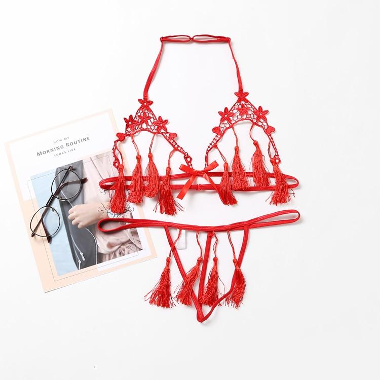 Ultra-thin Gauze Transparent Sexy Lingerie Embroidery Lace Plus Up Bra Bralette Set Small Chest Women Underwear Bra Panty Set