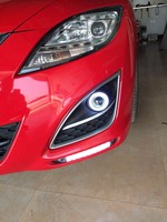 Qirun led daytime running light DRL for Mazda 6 Atenza 2010 2013 (GH) 2 generation, with moving yellow turn signal