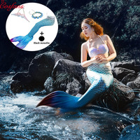 5Pcs/set NEW Kids Adults Mermaid Tail with monofin Swimmable Filpper Fancy Costume for Women Swimming Swimwear Cosplay Costumes