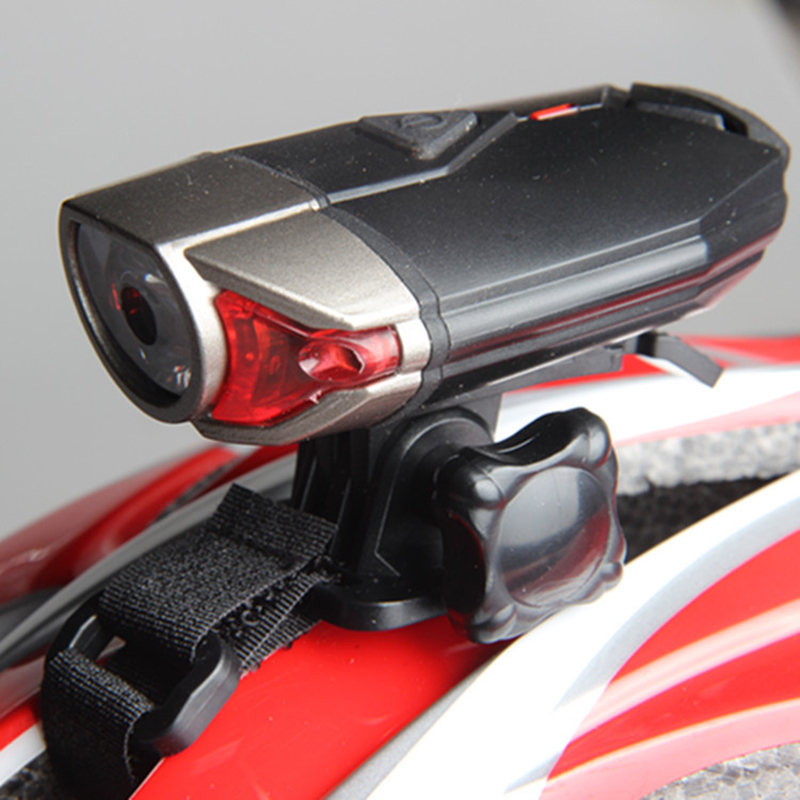 USB Rechargeable Front Bicycle Helmet Light LED Handlebar Lamps Bicycle Helmet Safety Flashlight Torch Built-in 1200mAh Battery