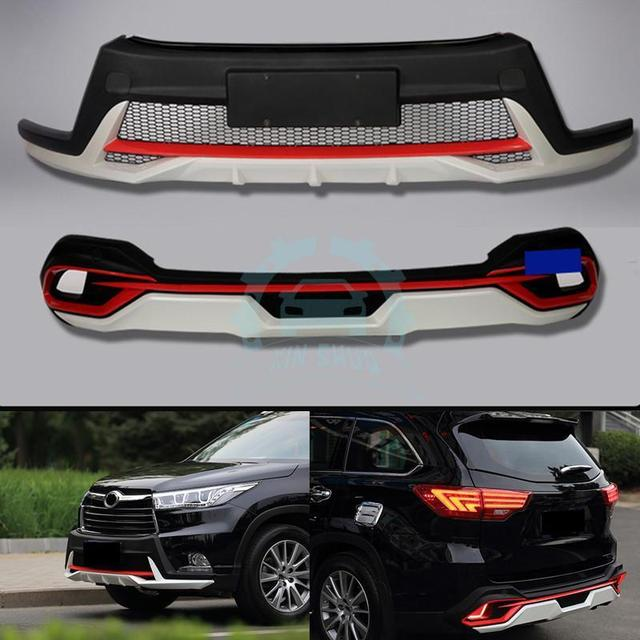 ABS Black Silvery Red Body Kits For Toyota Highlander 2015