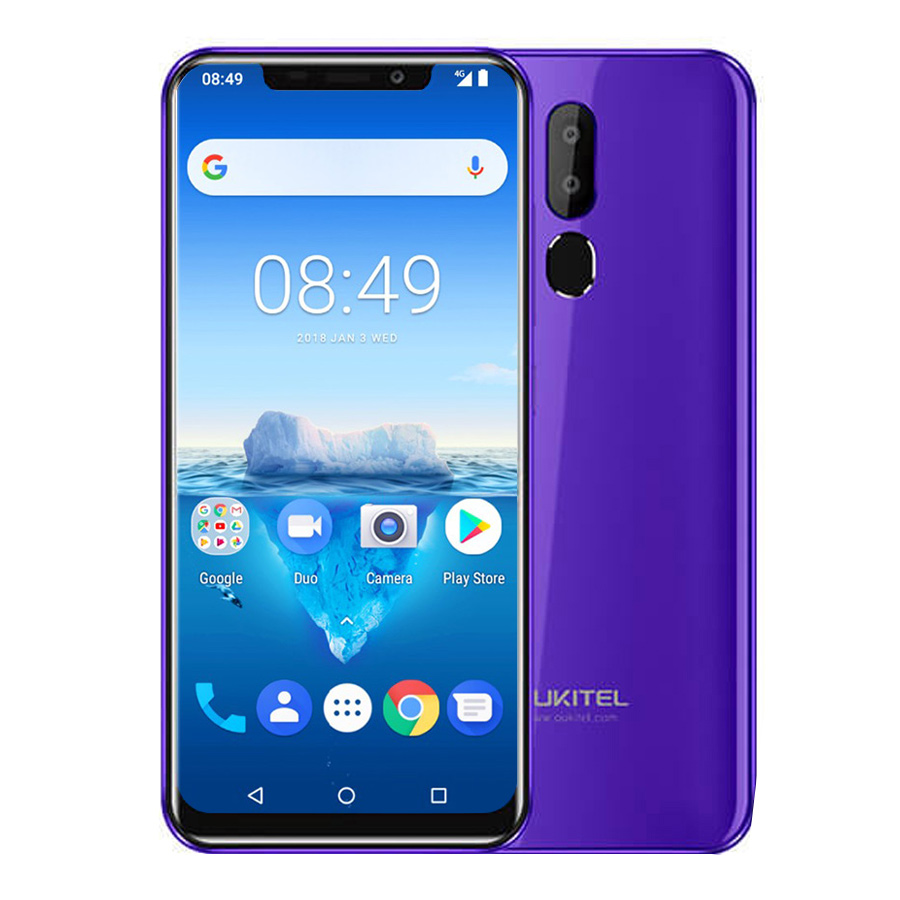 "Oukitel C12 Pro 4g 6.18""19:9 Android 8.1 Face Id 3300mah Mt6739 Quad Core 2gb Ram 16gb Rom 8mp+5mp Fingerprint Mobile Phone #5"