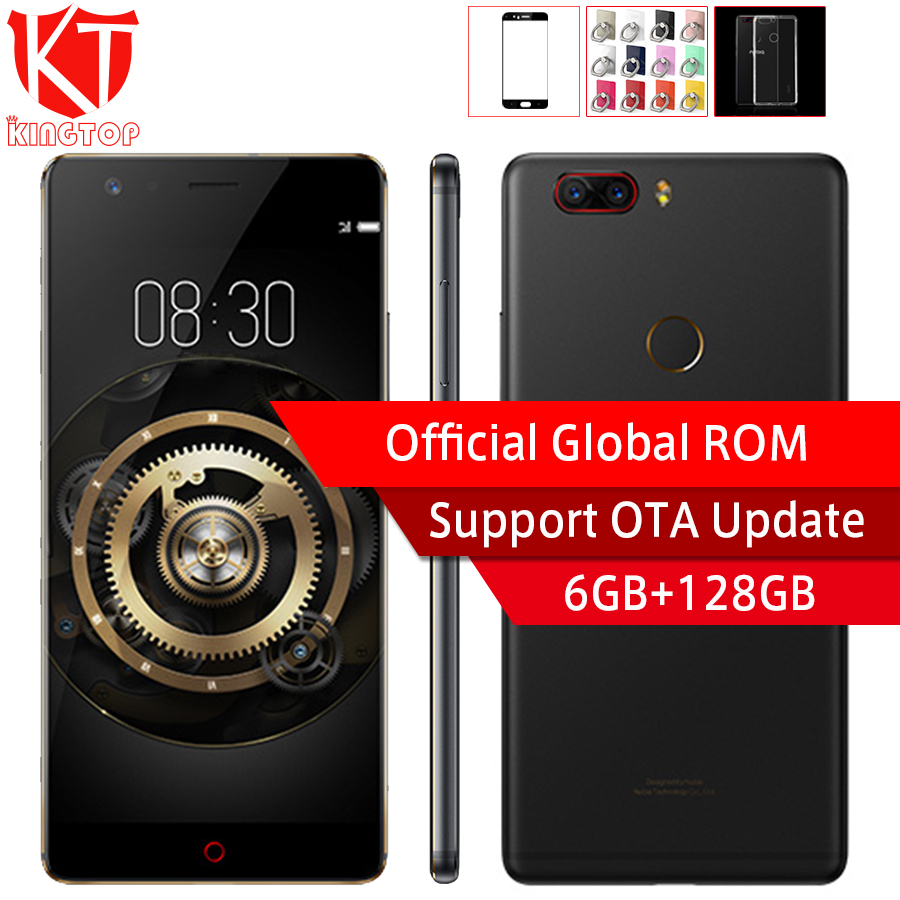 Original ZTE Nubia Z17 Lite 5.5 inch Bezel-Less Snapdragon 653 Octa Core 6GB 128GB 4G LTE Dual 13MP Rear Camera NFC Mobile Phone