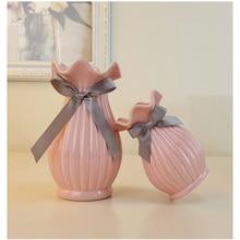 European Modern Fashion Ceramic Flower Vase Home Decoration Small Ceramic Vases Wedding Home Decoration Tabletop  Handmade Vase цена