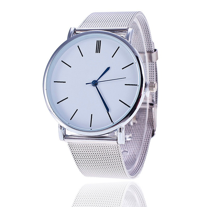Fashion Silver Casual Quartz Watch Women Metal Stainless Steel Dress Watches Relogio Feminino Clock 1886 new famous brand fashion casual women watches roman numerals quartz watch women stainless steel dress watches relogio feminino