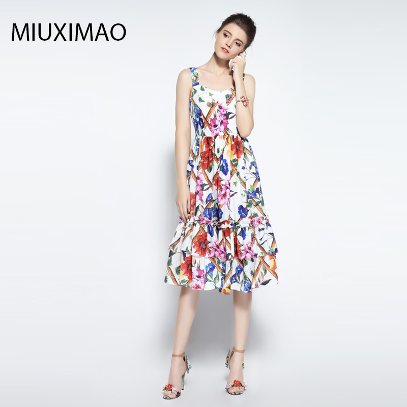 US $46.61 21% OFF|Custom Plus Size Dress High Quality Fashion Designer  Runway Dress Women Elegant Flower Print Vintage Cake Dress Women-in Dresses  ...