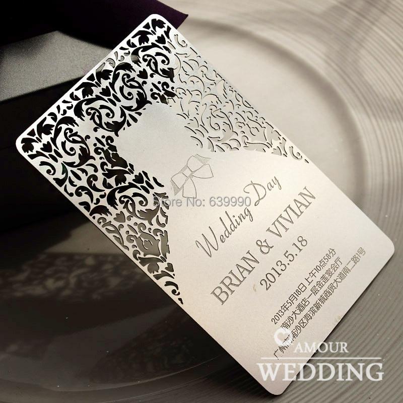 Custom Laser Engraved Wood Wedding Invitation