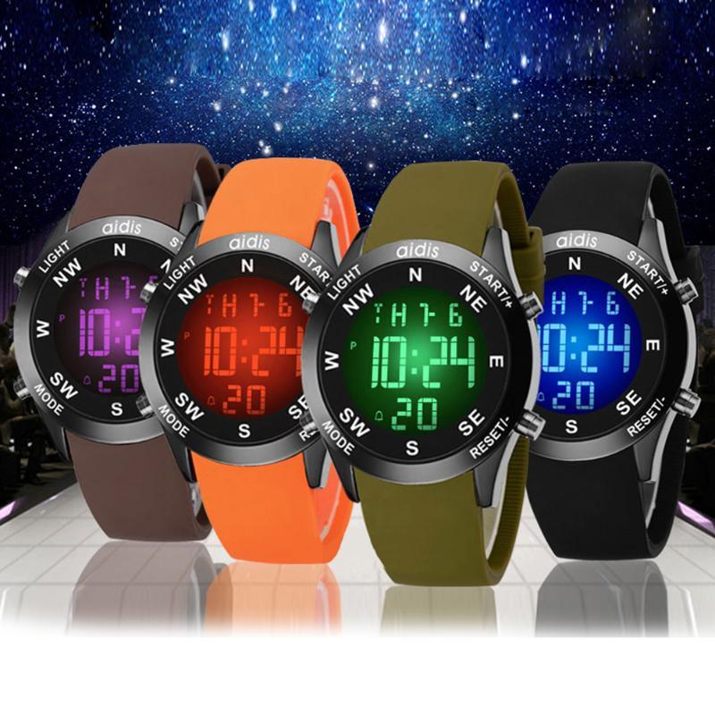 7Colors Flash Backlight font b Watch b font Children Electronic LED font b Watches b font