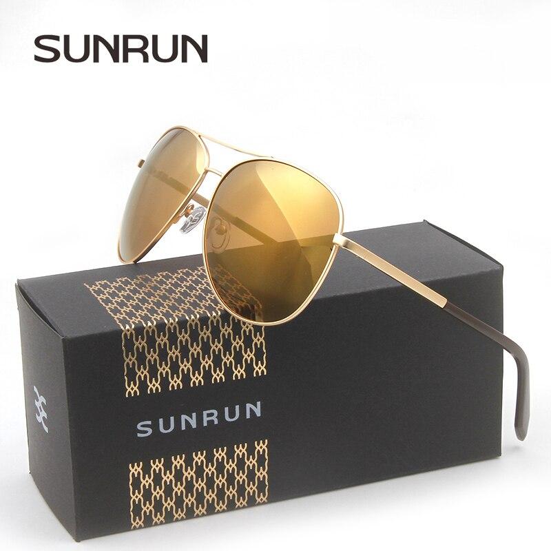 SUNRUN font b Polarized b font Sunglasses Men Brand Designer font b Fashion b font Sun