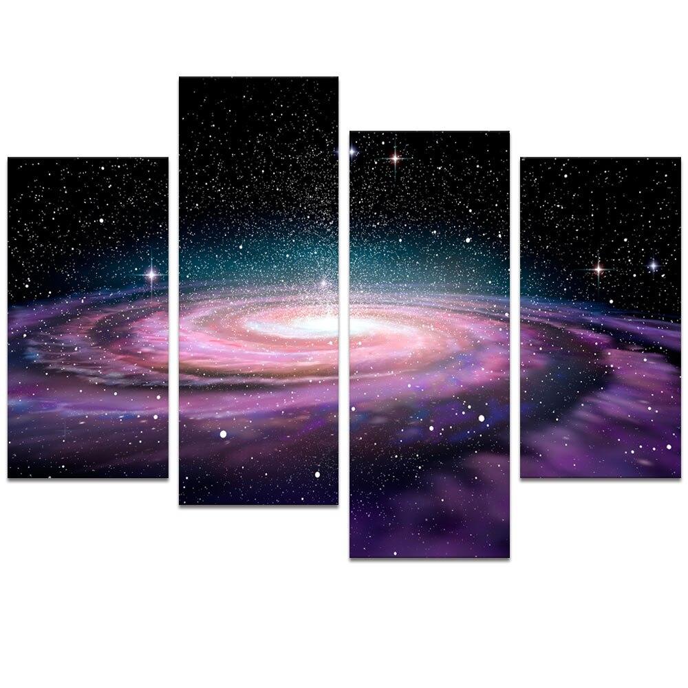 Art Décor: Visual Art Decor Modern Wall Art Galaxy Space Picture