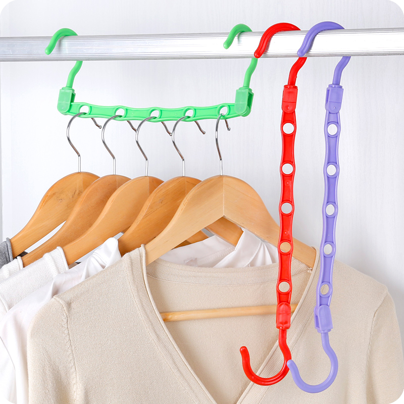 Practical Hanging type 5 holes windproof anti-slip hanger ABS plastic clothes drying racks saving wardrobe space