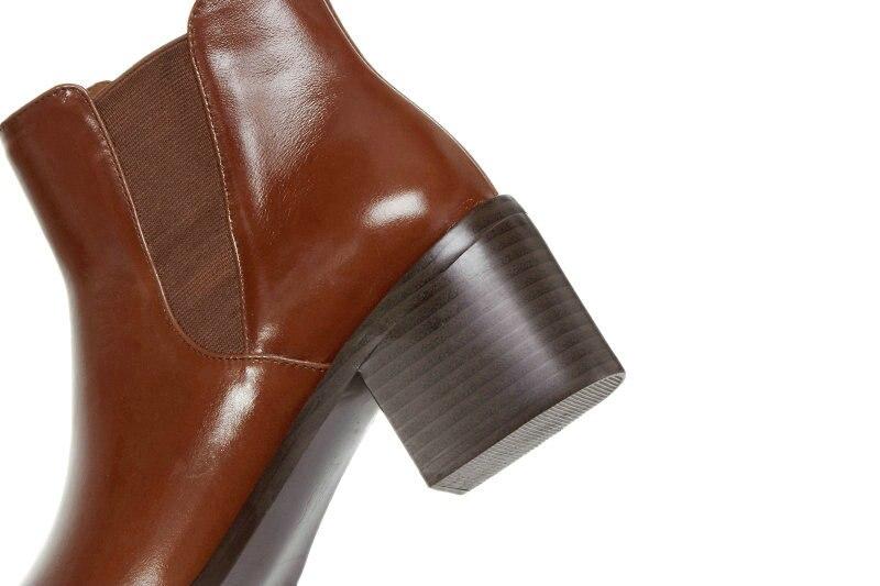 Cuir printemps En À 42 Chaussures jiao Tangse Taille Pu Femme Automne Eshtonshero 34 Noir Verni Hauts Carré Talons Femmes Cheville Moto Dames Bottes Apf58