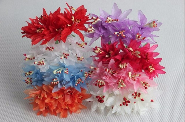 60pcs silk flower with stamens pistil for wreath garland bouquet 60pcs silk flower with stamens pistil for wreath garland bouquet making accessory craft diy mightylinksfo