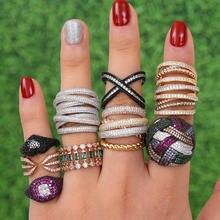 Женское кольцо godki monaco дизайнерское Сверкающее свадебные