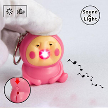 1pcs  Ultra Bright LED Cute Kobito Electronic  Keychain  Action Figure Toys With Sound Keychain Kids Gifts