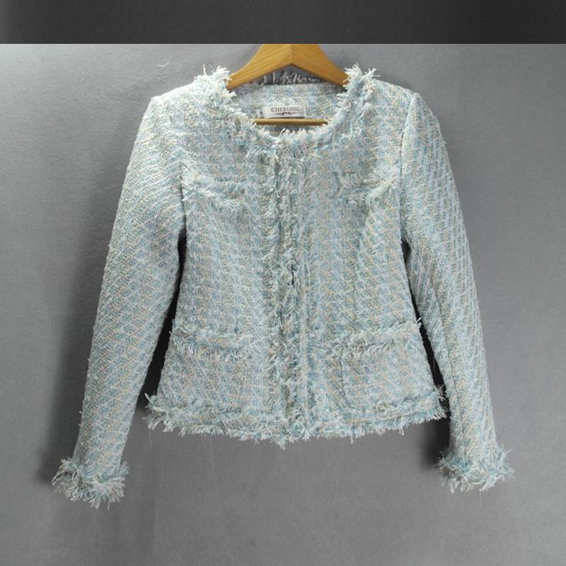 Popular Blue Tweed Jacket-Buy Cheap Blue Tweed Jacket lots from