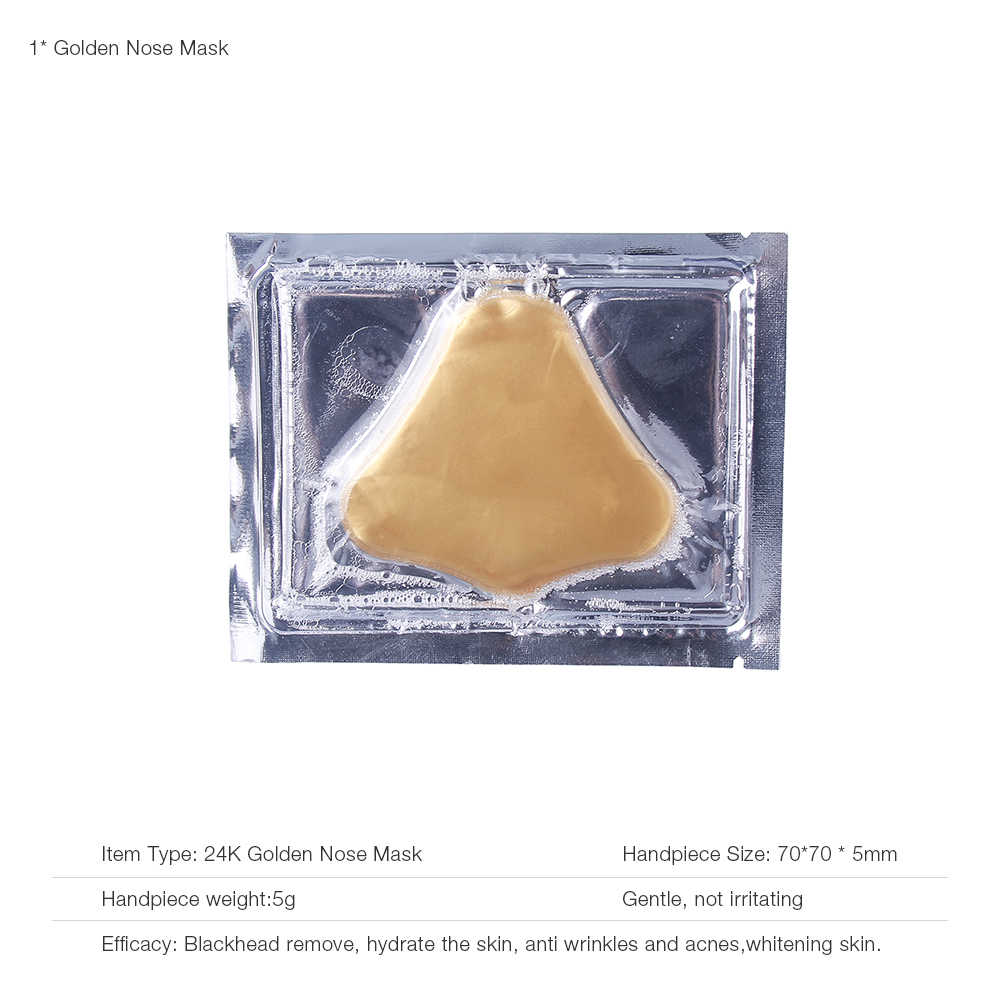 24k Golden Nose Mask Blackhead Remover Accessories Anti Wrinkle Anti Aging Facial nosemask Face Skin Care Whitening