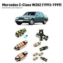 Led interior lights For mercedes c-class w202 1993-1999 12pc Led Lights For Cars lighting kit automotive bulbs Canbus цена в Москве и Питере