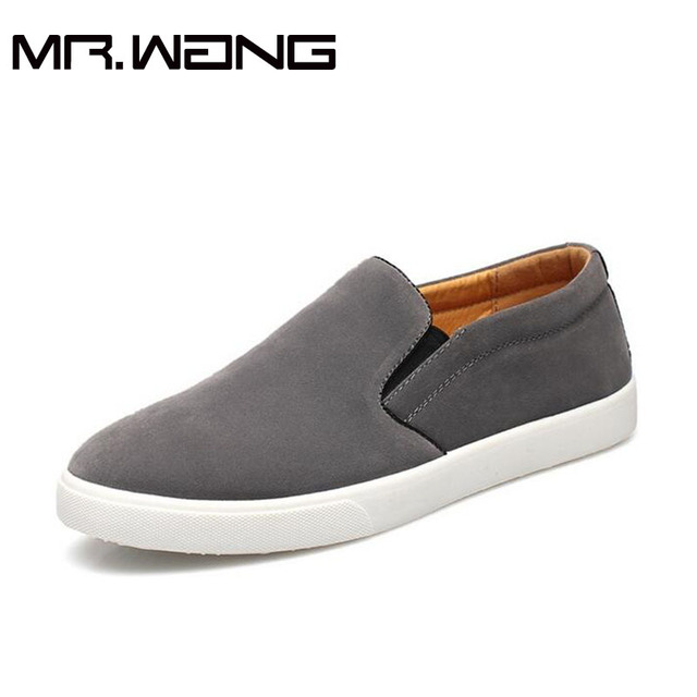 Fashion comfortable slip on shoes Sneakers men's suede Flats casual shoes Leather Loafers Driving Shoes big size 38-47 AA-37