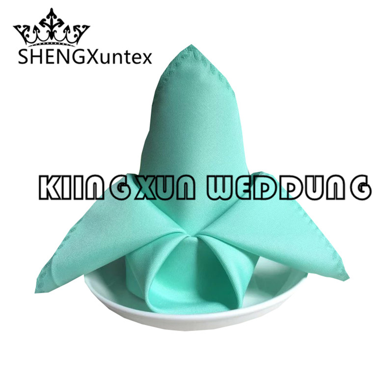 Whoelsale Price Polyester Table Napkin For Wedding Event Decoration - 45cm*45cm