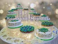 11pcs Wedding Crystal Round Cake Display,Wedding Cake Stand,Wedding Centerpiece