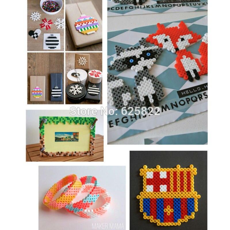 EVA 50,000 Kralen/Set 49 Kleuren 3mm Mini Hama/Perler/Zekering Kralen 1000 Bead/Tas /kleur Educatief Speelgoed Voor soorten Hand Made Activiteit-in Puzzels van Speelgoed & Hobbies op  Groep 2