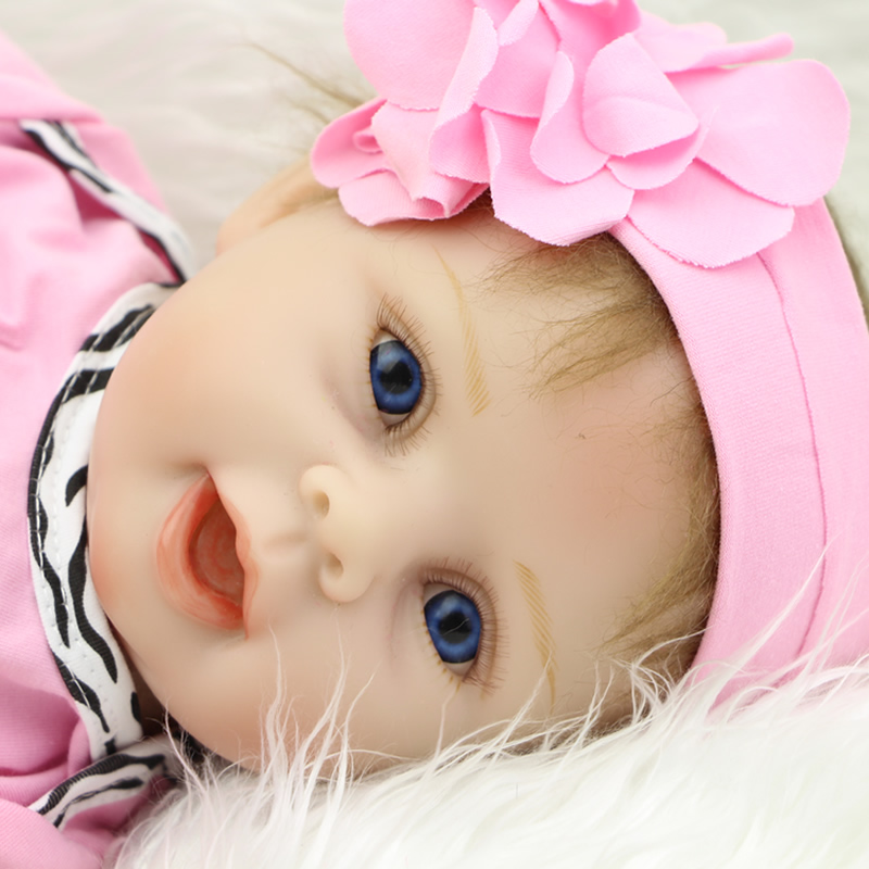 Reborn Silicone Doll 22 Inch Handmade Princess Girl Dolls With Beautiful Dress Kids Birthday Xmas Gifts hot newest 18 inch handmade vinyl doll bjd doll with dress beautiful princess doll toy for children christmas gift