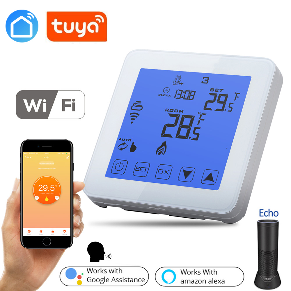 TUYA Smart Home Wifi Energy Saving Thermostat Programmable Touch Screen Temperature Controller Electrical And Water Heating