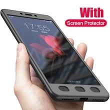 Lusso A 360 Gradi di Protezione Completa della Cassa Del Telefono Copertura per Xiaomi Redmi Nota 4 Nota 4X Shockproof Della Copertura Nota 4 Globale cassa di Vetro