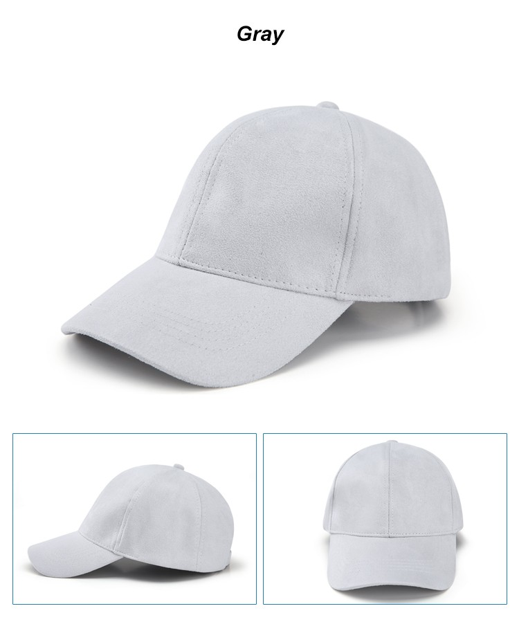 WEARZONE Unisex Soft Suede Baseball Cap Casual Solid Sports Hat Adjustable Breathable Dad Hats for Women Men 16