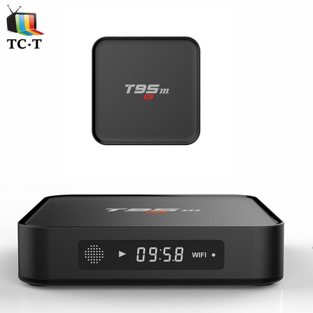 10 Unids [Original] T95M 2 GB DDR + 8G EMMC S905X Adroid 6.0 TV BOX Amlogic Quad Core Bluetooth 4.0 Wifi 2.4 GHz 4k2k H.265 Pantalla LED