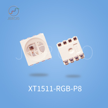 Jercio XT1511-RGB-P8(Similar with 6812) DC12V  One-bring-Two Fashion Programmable 256 gray level SMD LED