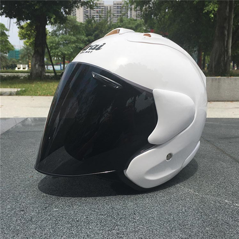 2017 ARAI Dual Use Skull Motorcycle Helmet Capacete Casco Novelty Retro Casque Motorbike Half Face Helmet free shipping