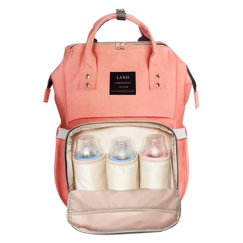 Modernizēta versija Māmiņa mugursoma Bērnu autiņbiksīšu somas māmiņa ratiņiem Modes plecu māmiņa somas Daudzfunkcionāla liela ietilpība