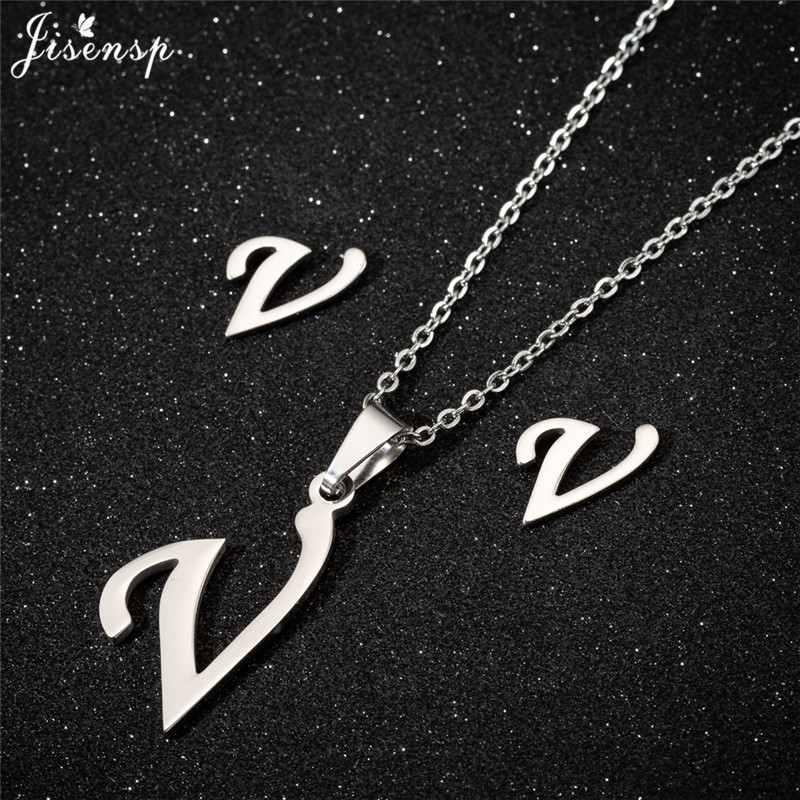 Jisensp Personalized A-Z Letter Alphabet Pendant Necklace Gold Chain Initial Necklaces Charms for Women Jewelry Dropshipping 45